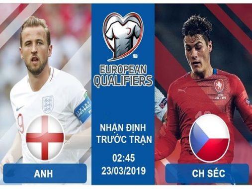 Dự đoán Anh vs CH Czech, 02h45 ngày 23/3 – VL EURO 2020