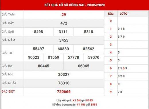 Dự đoán XS Đồng Nai thứ 4 ngày 27-5-2020