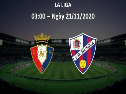 Dự đoán Osasuna vs Huesca, 03h00 ngày 21/11, La Liga