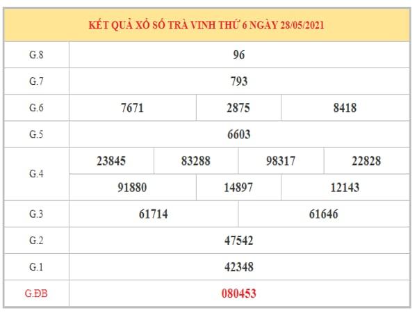 Dự đoán XSTV ngày 4/6/2021 dựa trên kết quả kì trước